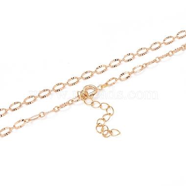 латунь кабель цепи ожерелье изготовление(NJEW-JN03164)-3