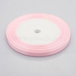 "Ruban de conscience de cancer du sein rose matériaux de fabrication de ruban en satin, rose, 1/4"" (7 mm) de large, 25yards / roll (22.86m / roll)(X-RC012-43)"