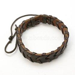 Bracelets en cuir, brun, 64mm(BJEW-C387-02)