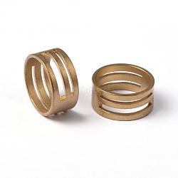 Bagues en laiton brut pour bricolage anneau de jonction outils d'ouverture/de fermeture, non plaqué, sans nickel, environ 17 mm de diamètre intérieur(X-EC373-G)