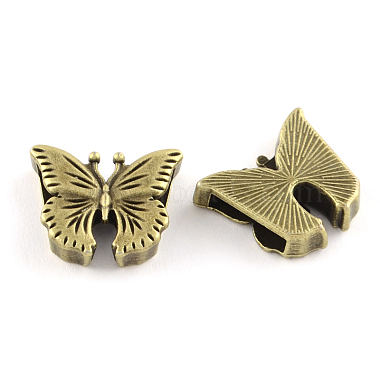 Antique Bronze Butterfly Alloy Slide Charms