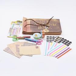 Diy album photo scrapbook artisanat, coins photo, stylo craie à l'eau, rubans adhésifs décoratifs, ciseaux de dentelle artisanale, craie à l'eau, couleur mixte, 18mm(DIY-PH0015-02)