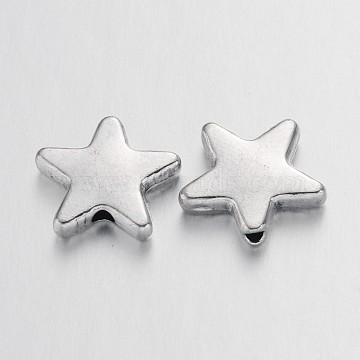 14mm Star Alloy Beads
