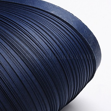 Quilling Paper Strips, Midnight Blue, 530x10mm; about 120strips/bag(DIY-J001-10mm-B07)