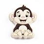 PapayaWhip Monkey Silicone Beads(X-SIL-T056-04)