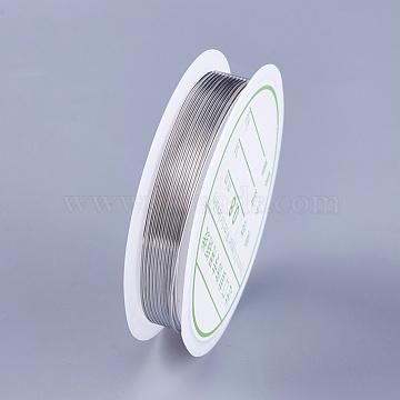 Fil de cuivre, platine, 0.8 mm; environ 2 m/rouleau(YS-TAC0001-01B-P)