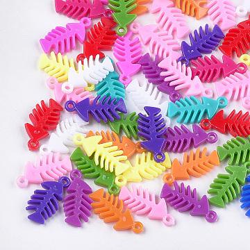 Mixed Color Fish Plastic Pendants