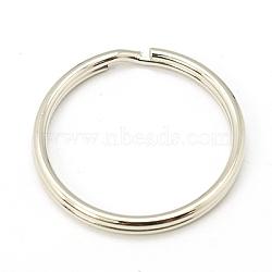 fer divisé porte-clés, conclusions de fermoir porte-clés, platine, 24x2 mm; diamètre intérieur: 20 mm(X-IFIN-C057-24mm)