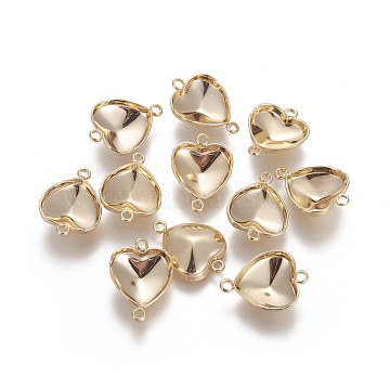 Real Gold Plated Heart Stainless Steel Links