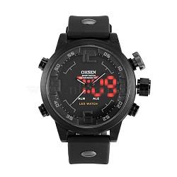 Fashion Plastic Men's Electronic Wristwatches, Gray, 270x22mm(WACH-I005-01D)