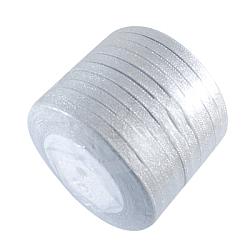 """Ruban métallique pailleté, Ruban scintillant, avec des cordons métalliques argentés, coffrets cadeaux valentine, argenterie, 1/4"""" (6 mm); environ 33yards / rouleau (30.1752m / rouleau), 10 rouleaux / groupe(RSC6mmY-016)"""