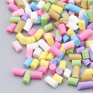 Handmade Polymer Clay Sprinkle Beads, Fake Food Craft, No Hole, Colorful, 1~12.5x1.5mm(X-CLAY-N002-14A)