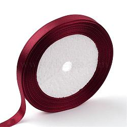 "Ruban de satin à face unique, Ruban de polyester, DarkRed, 2"" (50 mm); environ 25yards / rouleau (22.86m / rouleau), 100yards / groupe (91.44m / groupe), 4 rouleaux / groupe(RC50MMY-048)"