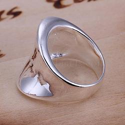 Простые латуни палец кольца для мужчин, серебряные, Размер 8, 18.1 мм(RJEW-BB13200-8)