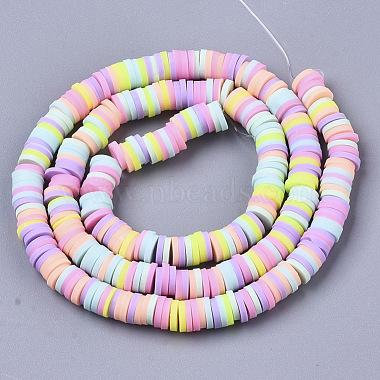 Handmade Polymer Clay Beads Strands(X-CLAY-R089-6mm-087)-2