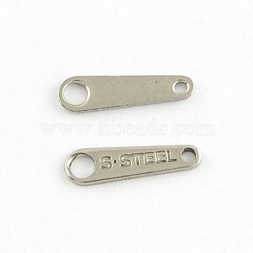 304 каплевидный из нержавеющей стали в форме вкладки цепи, цвет нержавеющей стали, 10x3 мм, отверстие : 1 мм(X-STAS-Q178-01)