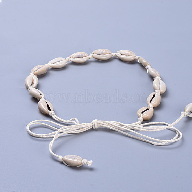 Adjustable Cowrie Shell Beads Lariat Necklaces(X-NJEW-JN02394)-4