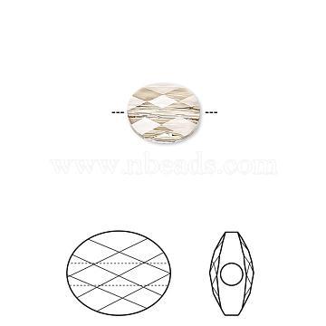 Brass Micro Pave Clear Cubic Zirconia Shank Buttons, Flower, Platinum, 16x17x9.5mm, Hole: 1.2mm(KK-H738-11P)