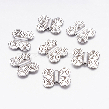 20mm Butterfly Alloy Beads