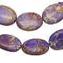 14mm Purple Oval Regalite Beads(X-G-H019-5)