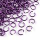 Aluminum Wire Open Jump Rings(X-ALUM-R005-0.8x6-11)-1