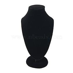 Affichage collier de velours buste, noir, 175x100x65mm(NDIS-C003-3)