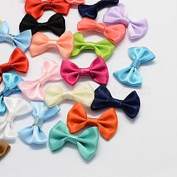 Аксессуары костюма из ткани, ленту бантом, разноцветные, 23x35x7 мм ; около 500 шт / мешок(X-WOVE-R061-M)