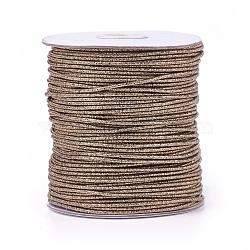 Cordon de polyester, or, 2 mm; 100 yards / rouleau (300 pieds / rouleau)(OCOR-E017-01A-14)