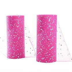 Filet à paillettes, Tissu à carreaux en tulle pour la fabrication de jupe, violet, 6'' (15 cm); environ 25 mètres / rouleau (22.86 m / rouleau)(OCOR-BC0008-15)
