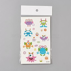 Removable Fake Temporary Tattoos, Water Proof, Cartoon  Paper Stickers, Huggles, Colorful, 120~121.5x75mm(AJEW-WH0061-B04)