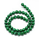 Synthetic Malachite Beads Strands(X-G-T053-6mm-05)-2