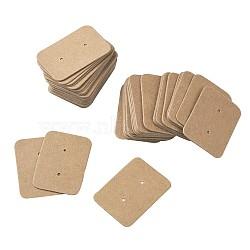 Bijoux boucle d'oreille affichage étiquettes de prix de papier kraft, rectangle, Sienna, 35x25x0.5mm(CDIS-TAC0001-02B)