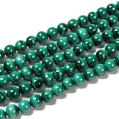 6mm Round Malachite Beads