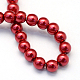 Baking Painted Pearlized Glass Pearl Round Bead Strands(X-HY-Q003-12mm-51)-4