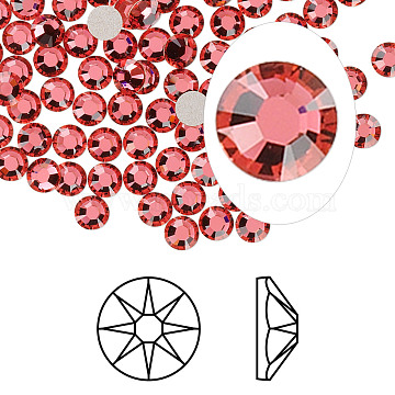 Austrian Crystal Rhinestone Cabochons, Crystal Passions, Foil Back, Xirius Rose, 2088, 289_Indian Pink, 4.6~4.8mm(X-2088-SS20-289(F))