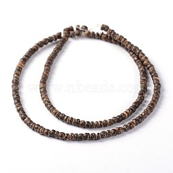 Natural Coconut Rondelle Bead Strands, 3.5x2~3.5mm, Hole: 1mm; about 163pcs/strand, 15.7inches(X-COCB-O001-13)
