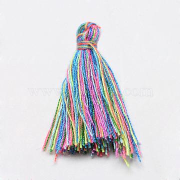 Handmade Cotton Tassel Decorations, Pendant Decorations, Colorful, 29~35mm(X-OCOR-Q024-66)