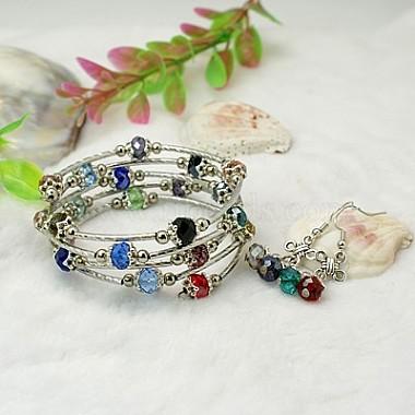 Colorful Glass Bracelets & Earrings
