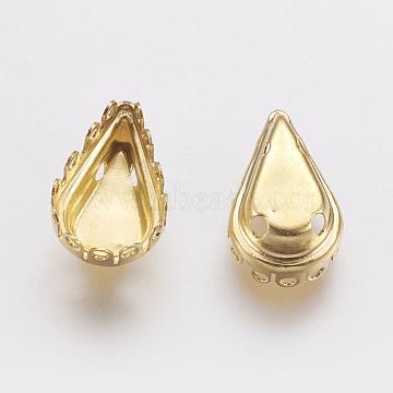 Golden Teardrop Brass Cabochon Settings