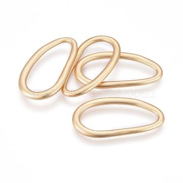anneaux en alliage de liaison de style tibétain, ovale, sans plomb libre et nickel et cadmium libre, véritable plaqué or, couleur or mat, 39x21x2 mm, diamètre intérieur: 14x33 mm(X-TIBE-Q077-23MG-NR)