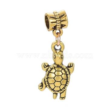 33mm Tortoise Alloy Dangle Beads