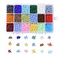 18 Colors Glass Seed Beads, Mixed Style, Round, Mixed Color, 3mm, Hole: 1mm; 500pcs/color, 9000pcs/box