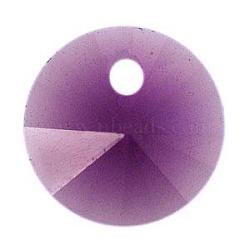 Cristal autrichien, 6428 xilion pendentif rivoli, 204 _améthyste, taille: environ 8mm de diamètre(X-SWAR-6428-8MM-204)