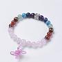 Quartz Rose Bracelets(BJEW-K200-01-02AS)