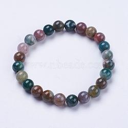 """Bracelets extensibles avec perles en agate indien naturelle, rond, 2"""" (52 mm)(BJEW-I253-8mm-11)"""