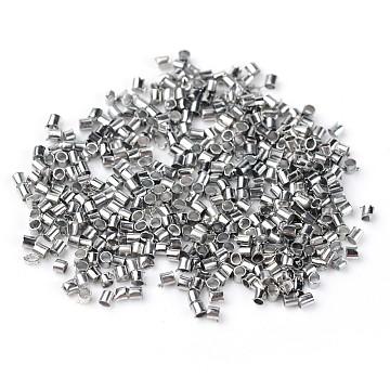 Diam 25 crimps dark silver  Platinum : 4 mm