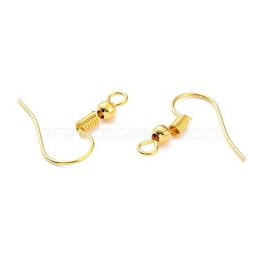 Golden Iron Earring Hooks(X-E135-NFG)-2