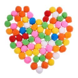 Pom pom ball en laine, rond, bricolage balle, couleur mixte, 35~40mm(PH-AJEW-WH0041-01)