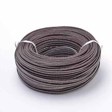 Leather Cords, Stitching, SaddleBrown, 10x2mm; about 50Yards/Bundle(150 Feet/Bundle)(WL-T001-10x2-03)