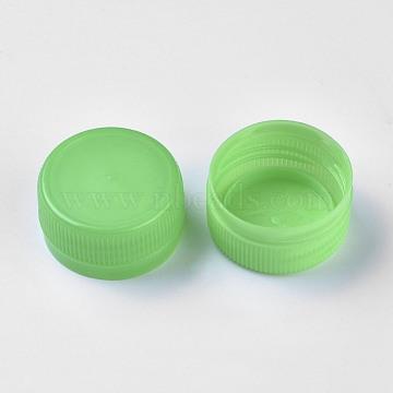 Plastic Bottle Caps, Column, Yellow Green, 32.5x16.5mm, Inner Diameter: 28.5mm, about 95~100pcs/bag(FIND-WH0043-18E)